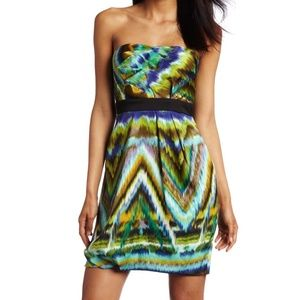 Max & Cleo Women's Strapless Origami Dress: SZ 6